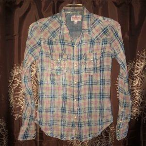TRUE RELIGION Pearl Snap Long Sleeve Western Shirt
